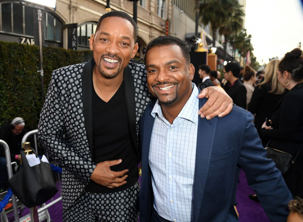 Will Smith and Alfonso Ribeiro attending the Alladin premiere/Photo:Getty Images