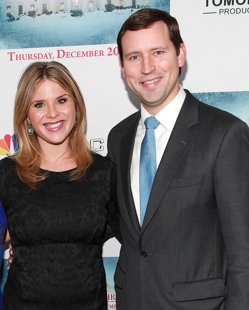 "Image Credits: Getty Images / Robin Marchant | Jenna Bush Hager (L) and husband Henry Chase Hager attend ""A White House Christmas: First Families Remember"" Premiere Party at Tenjune on December 12, 2012 in New York, New York."