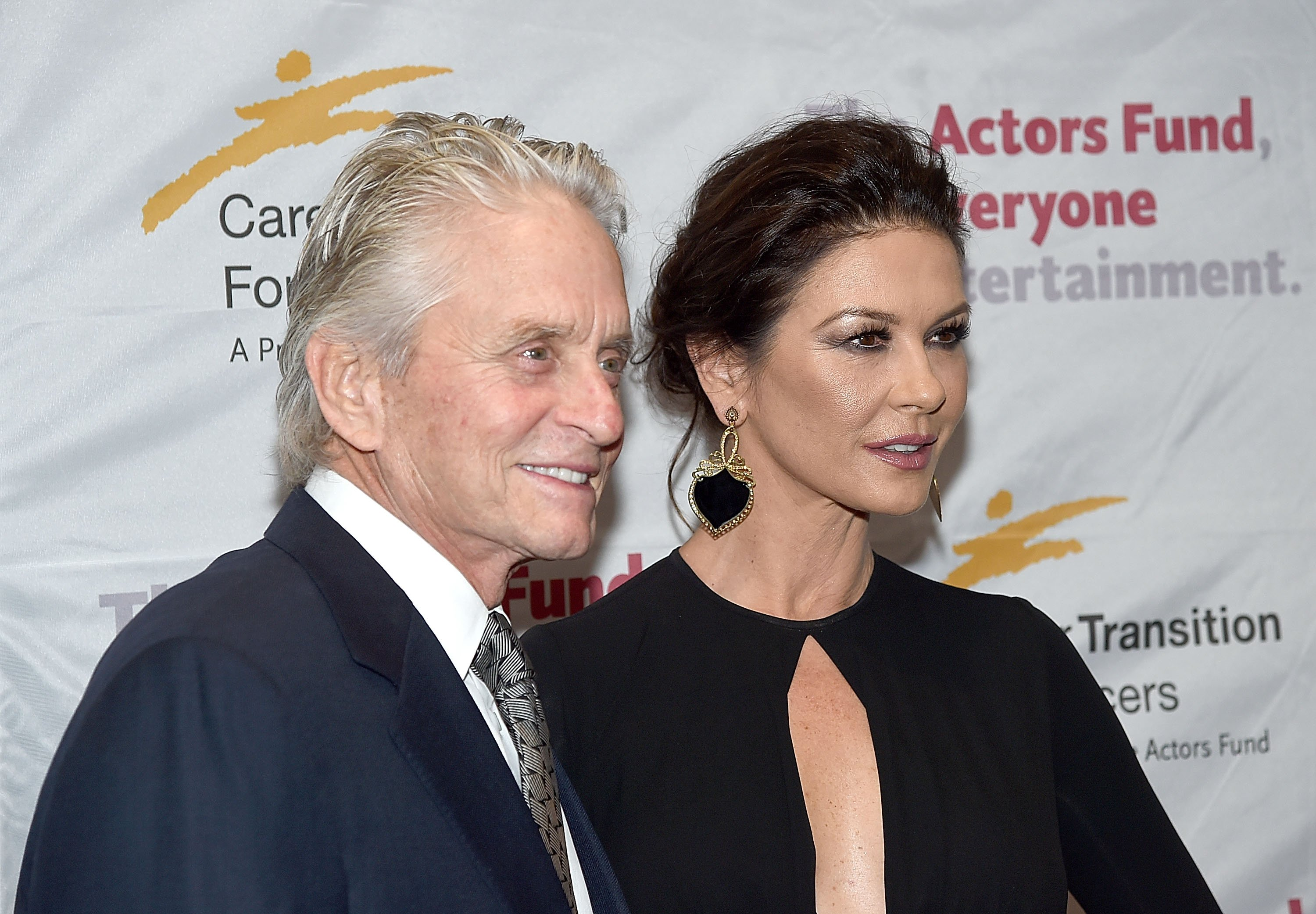 Image Credits: Getty Images / Jamie McCarthy | Michael Douglas and Catherine Zeta-Jones attend The Actor's Fund Career Transition For Dancers 2017 Jubilee Gala at Marriott Marquis Hotel on November 1, 2017 in New York City.