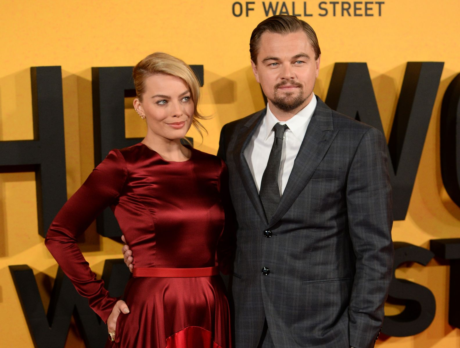 Leonardo DiCaprio and Margot Robbie at The Wolf of Wall Street UK premiere/Photo:Getty Images