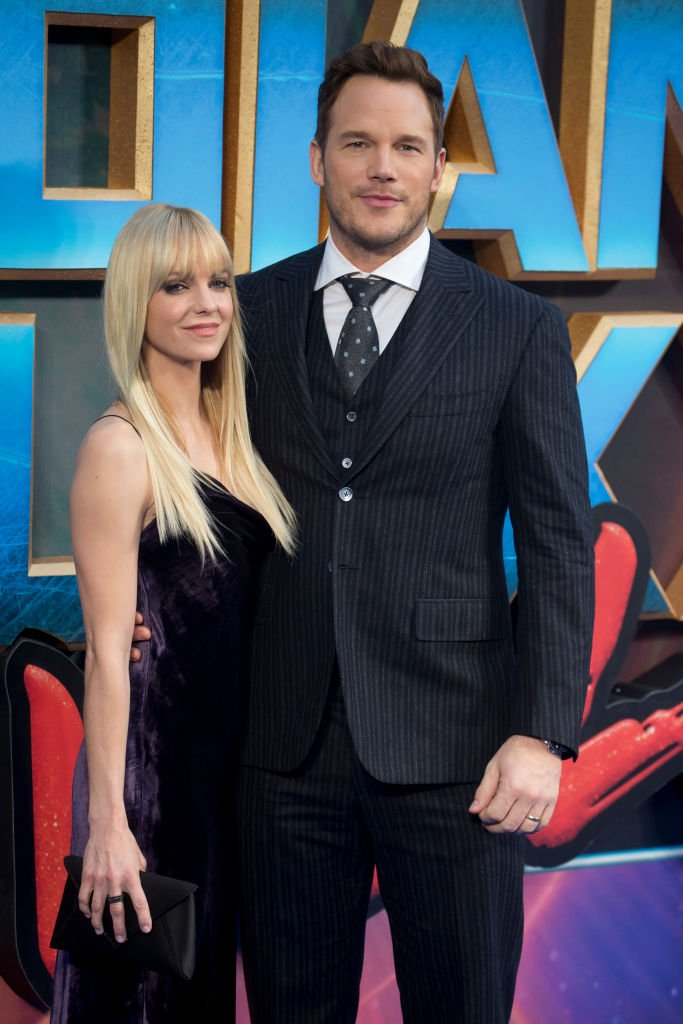 Image Source: Getty Images/Julian Parker/Anna Faris and Chris Pratt attend the European Gala Screening of 'Guardians of the Galaxy Vol. 2' at Eventim Apollo on April 24, 2017