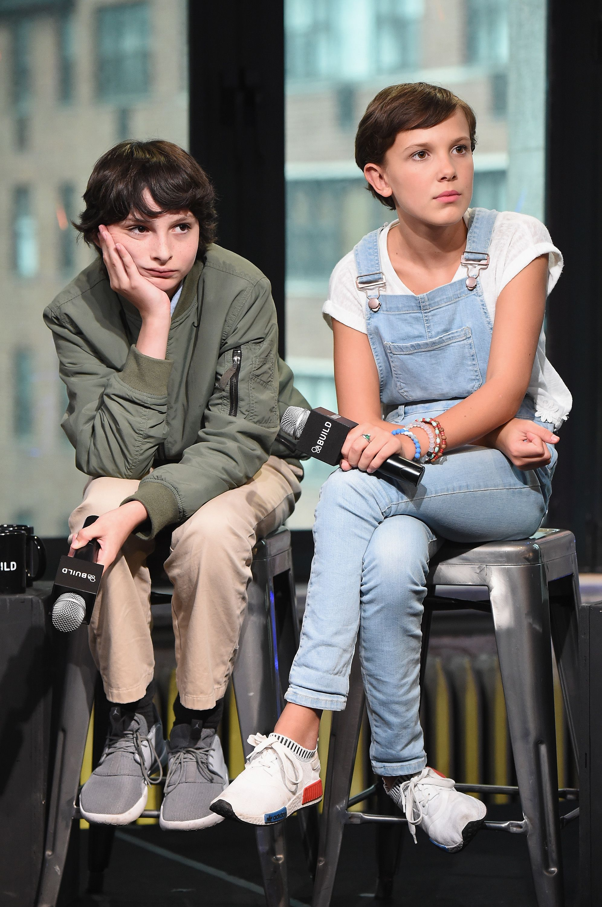Finn Wolfhard, Millie Bobby Brown at the BUILD Series/ Photo:Getty Images