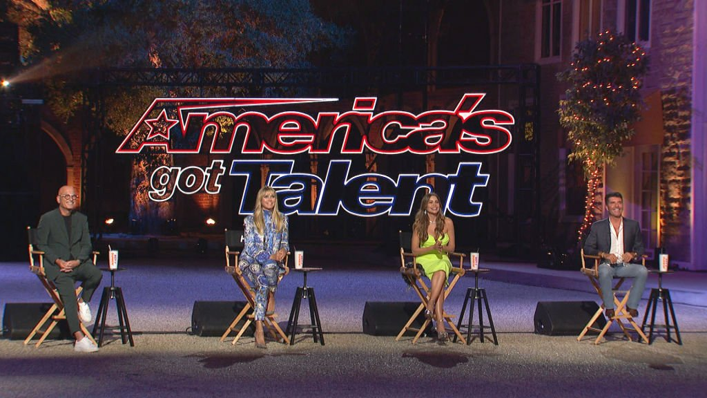 Image Credit: Getty Images / America's Got Talent - Season 15, Pictured in this screen grab: (l-r) Howie Mandel, Heidi Klum, Sophia Vergara, Simon Cowell.