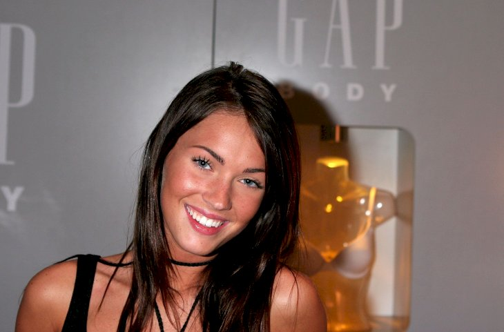 Meghan Fox in the Gap Body booth on day 4 of Olympus Fashion Week Spring 2006 / Getty Images