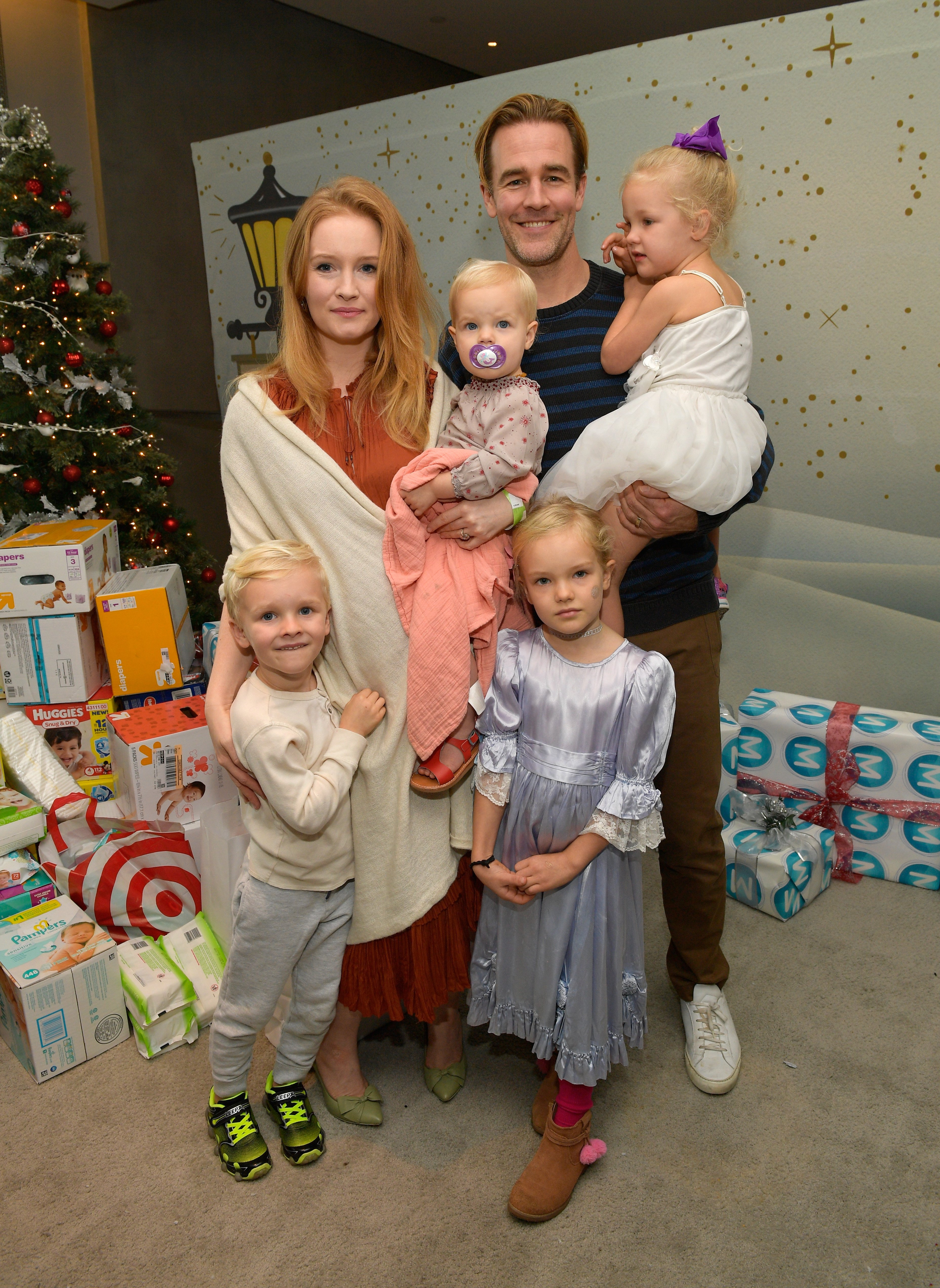 Image Source: Getty Images/ James with his family