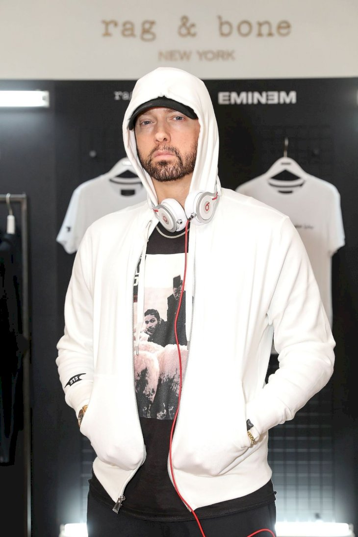 Eminem attends the rag & bone X Eminem London Pop-Up Opening on July 13, 2018
