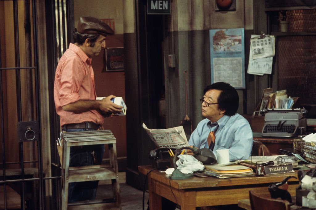 Image Credit: Getty Images / Paul Lichtman, Jack Soo on set for Barney Miller.