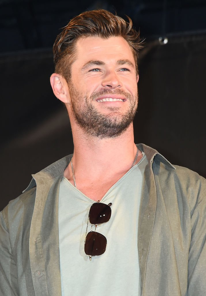 Image Source: Getty Images/Jun Sato/Chris Hemsworth attends the talk event during the Tokyo Comic Con 2019 at Makuhari Messe on November 23, 2019 in Chiba, Japan