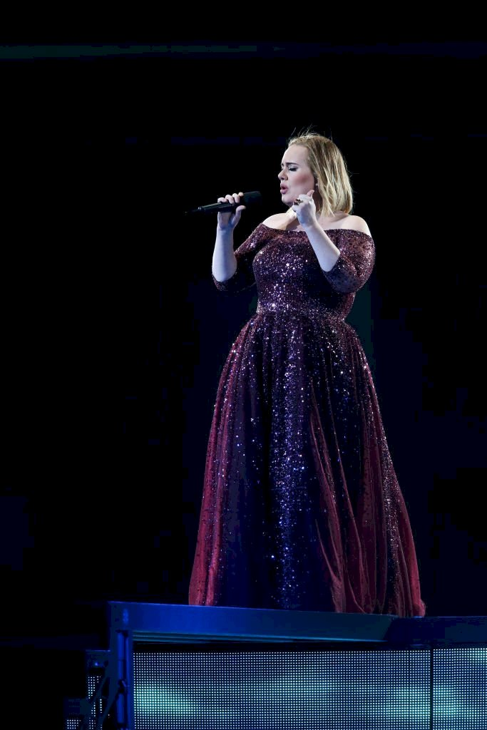 Image Credit: Getty Images / Adele performs at Adelaide Oval on March 13, 2017 in Adelaide, Australia.