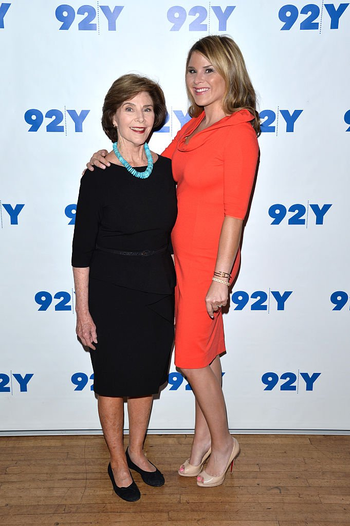 Image Credits: Getty Images / Andrew Toth / FilmMagic | Co-authors Laura Bush (L) and Jenna Bush-Hager attend 92Y Talks: Laura Bush & Jenna Bush-Hager on May 11, 2016 in New York, New York.