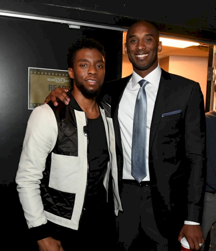 Image Credits: Getty Images / Garrett Ellwood / NBAE | Actor Chadwick Bozeman and Kobe Bryant during the NBA All-Star Technology Summit as a part of 2018 NBA All-Star Weekend at the Beverly Hilton on February 16, 2018 in Beverly Hills, California.