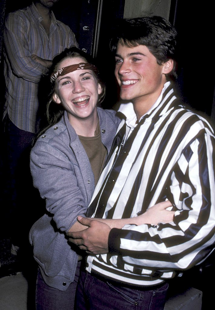 Image Credit: Getty Images/Ron Galella Collection via Getty Images/Ron Galella, Ltd. |  Melissa Gilbert and Rob Lowe Sighting at Santa Monica in 1982