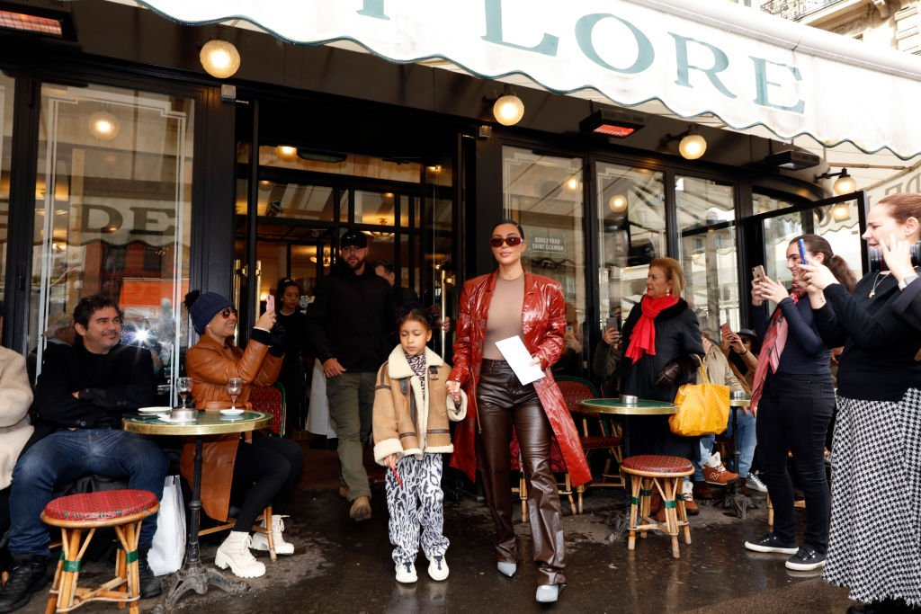 Image Credit: Getty Images / Kim Kardashian and her daughter North West pictured at the Cafe de Flore in Paris March 02, 2020 in Paris, France.