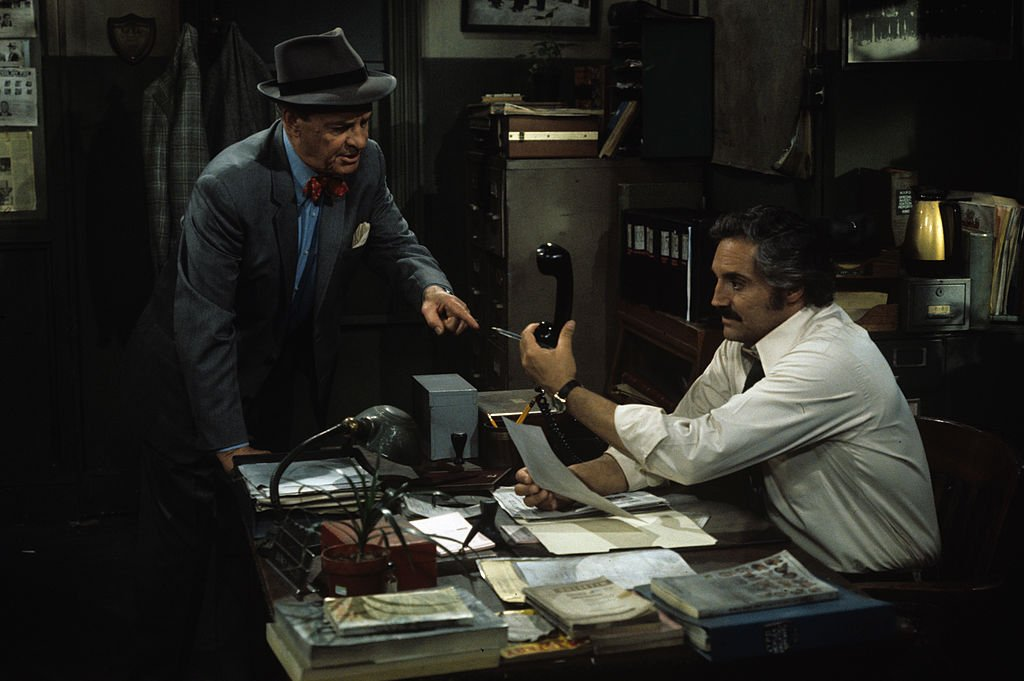Image Credit: Getty Images / James Gregory, Hal Linden on set for Barney Miller.