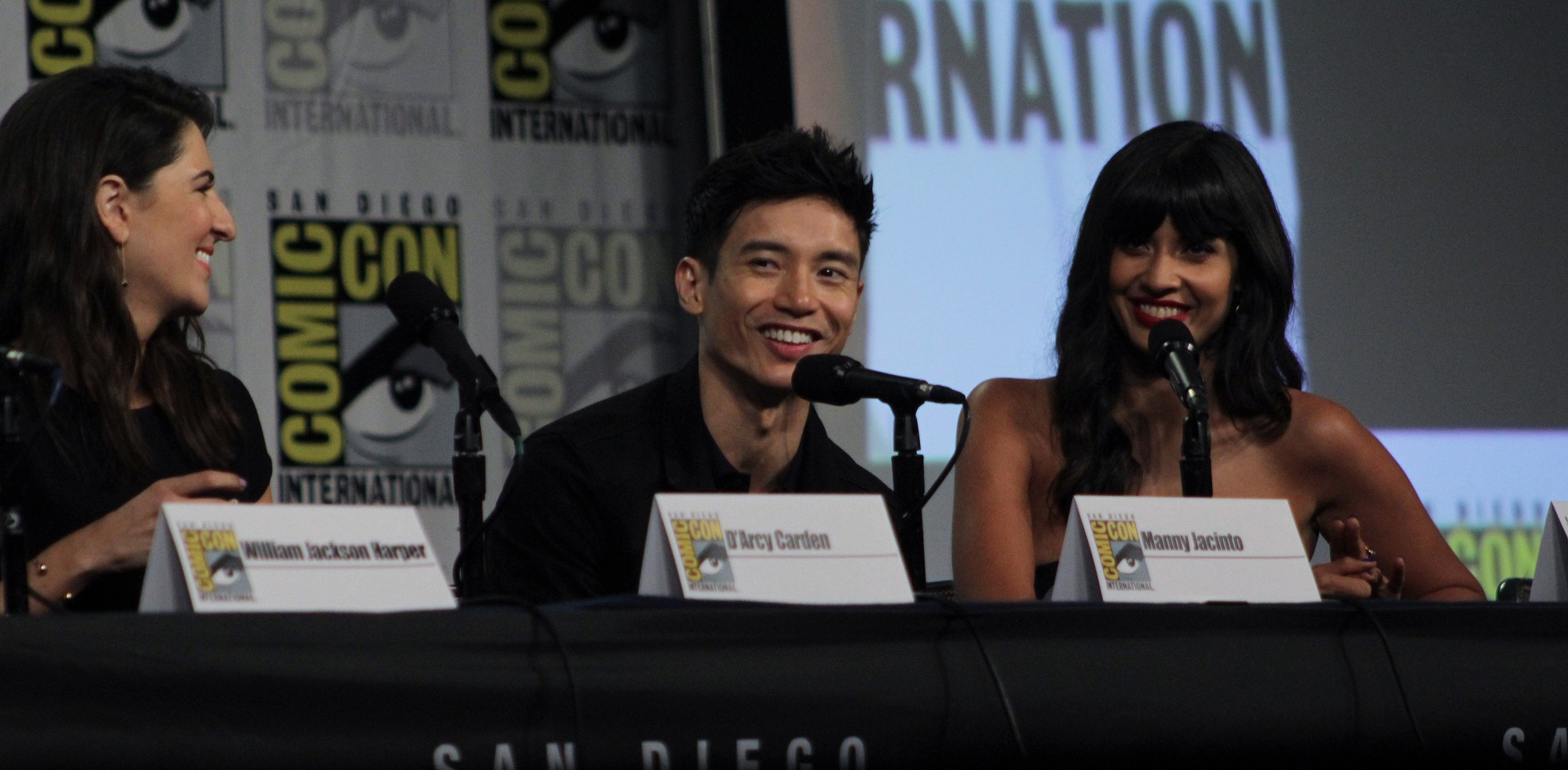 Image Source: Wikimedia Commons|Cast and crew of NBC's 'The Good Place' discuss the show in the Indigo Ballroom at the San Diego Hilton Bayfront Hotel during San Diego Comic Con on July 21, 2018