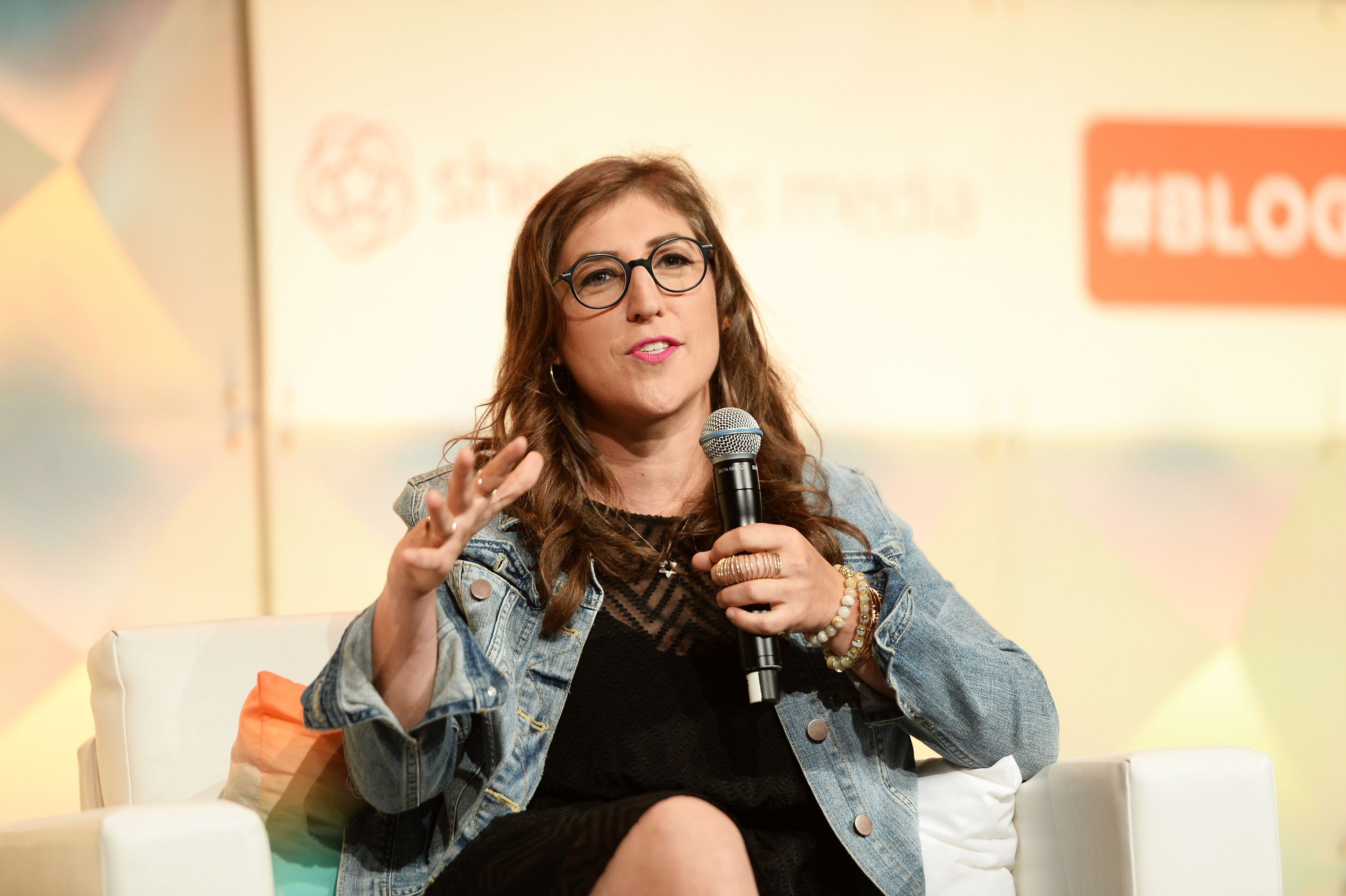Image Credits: Getty Images / Matt Winkelmeyer | Actress Mayim Bialik speaks onstage during the #BlogHer16 Experts Among Us Conference at JW Marriott Los Angeles at L.A. LIVE on August 5, 2016 in Los Angeles, California.