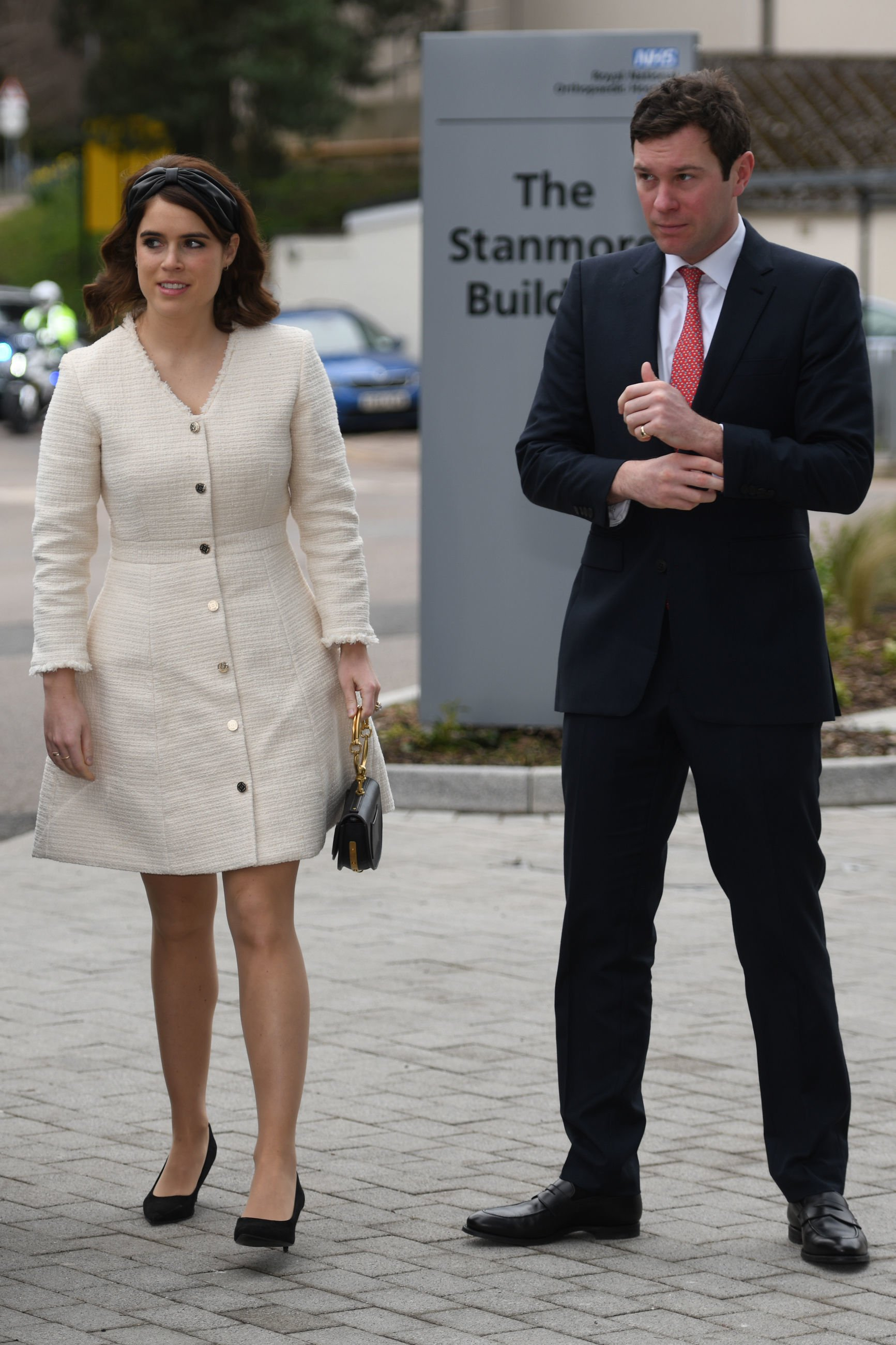 Image Source: Getty Images/Princess Eugenie and Jack Brooksbank attend the Chelsea Flower Show press day at Royal Hospital Chelsea on May 23, 2016 in London, England