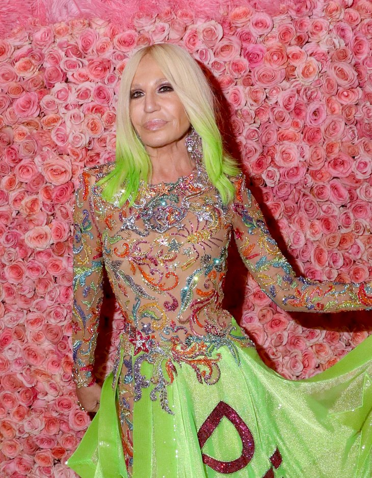 Image Credit: Getty Images / Donatella Versace at an event.