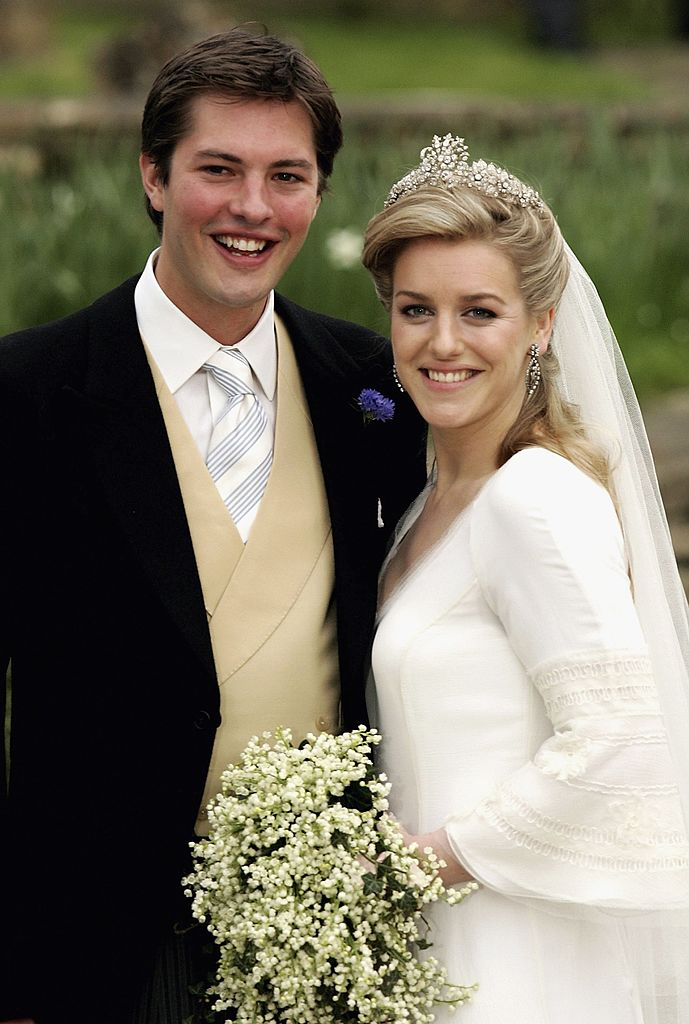 Image Credit: Getty Images/Mike Marsland | Harry Lopes and Laura Parker Bowles during their wedding