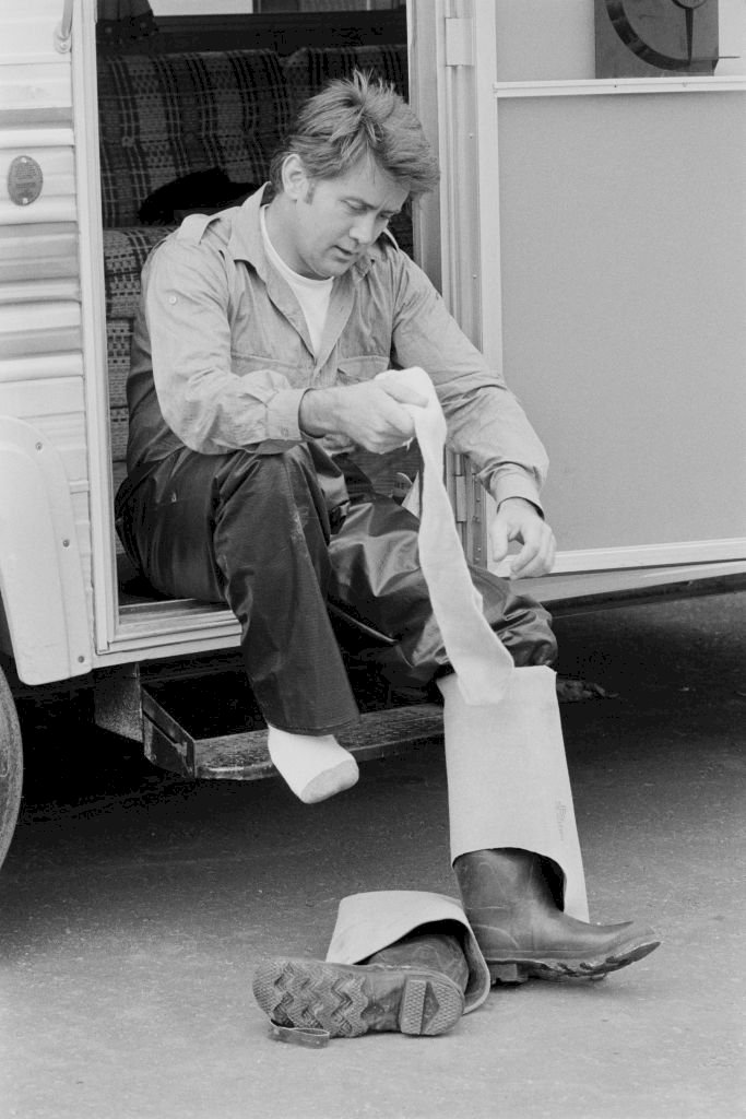 Image Credit: Getty Images / Martin Sheen in his trailer.