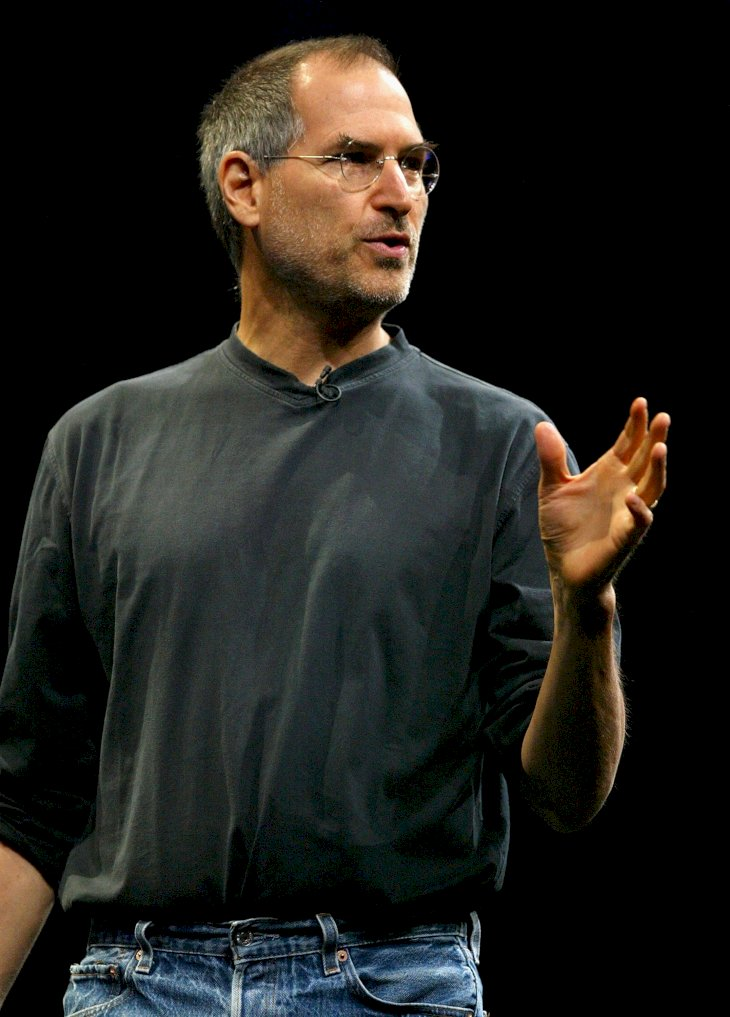 Image Credit: Getty Images/Justin Sullivan | Jobs delivers the keynote address at the 2004 Worldwide Developers Conference