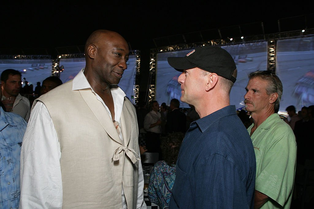 "Image Credit: Getty Images / Michael Clark Duncan and Bruce Willis during The Premiere of Columbia Pictures' ""Talladega Nights: The Ballad of Ricky Bobby"" at Mann's Grauman Chinese Theater in Los Angeles, California, United States."