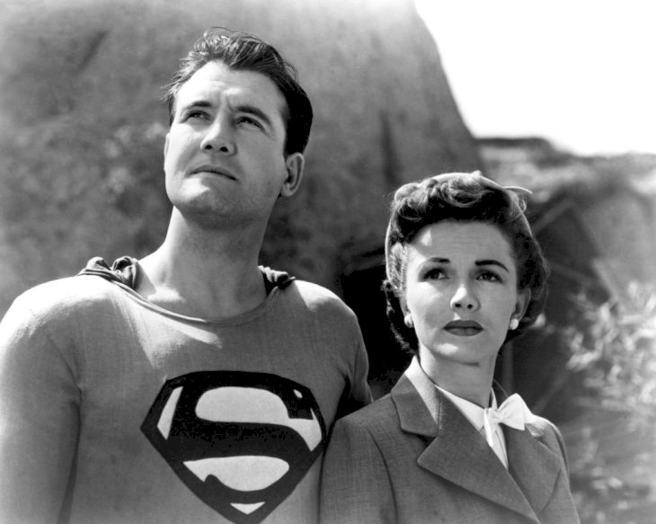 Image Credit: Getty Images/Silver Screen Collection | George Reeves as Superman and Phyllis Coates asLois Lane