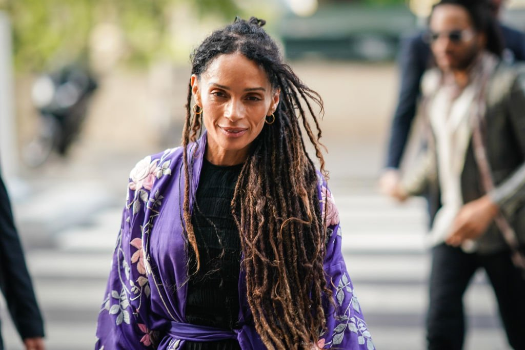Image Credit: Getty Images / Lisa Bonet arrives at Laperouse restaurant where a pre-wedding dinner for Zoe Kravitz and Karl Glusma is to be held on June 28, 2019 in Paris, France.