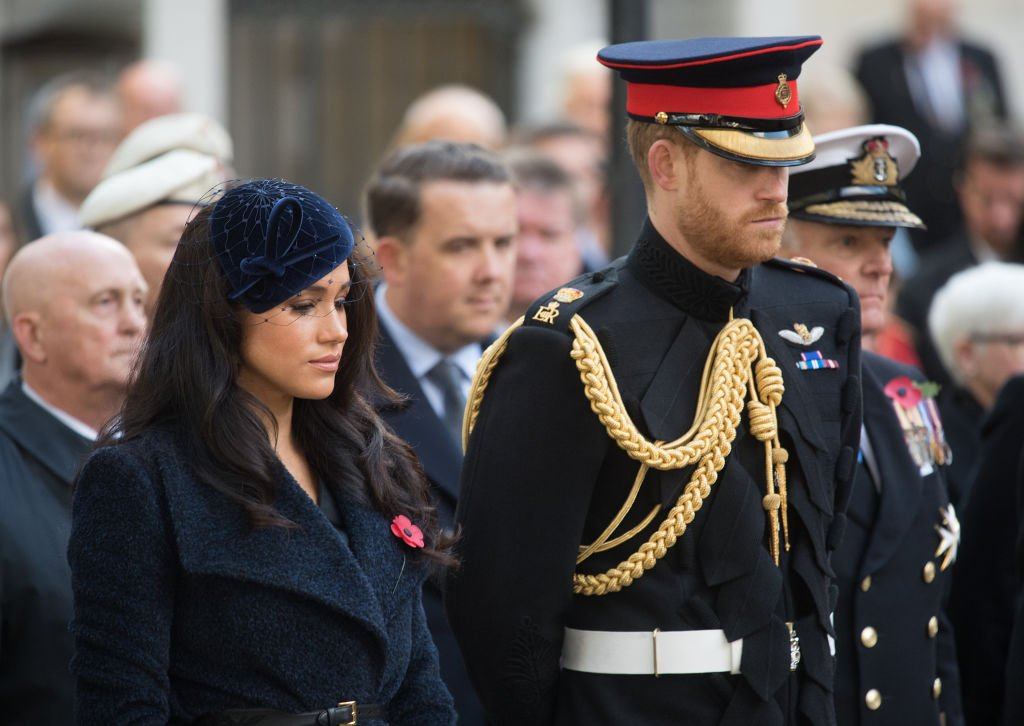 Image Credit: Getty Images / Prince Harry, Duke of Sussex, Meghan, Duchess of Sussex attend the 91st Field of Remembrance at Westminster Abbey on November 07, 2019 in London, England.