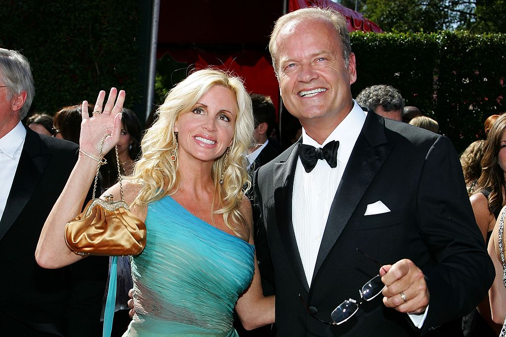 Image Credit: Getty Images / Actor Kelsey Grammer (R) and Camille Grammer arrive at the 59th Annual Primetime Emmy Awards at the Shrine Auditorium on September 16, 2007.