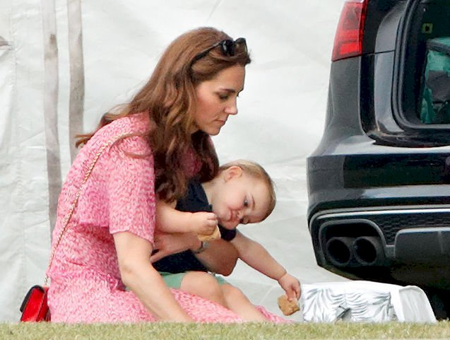 Image Credit: Getty Images / Catherine, Duchess of Cambridge, Prince Louis of Cambridge at Billingbear Polo Club on July 10, 2019.