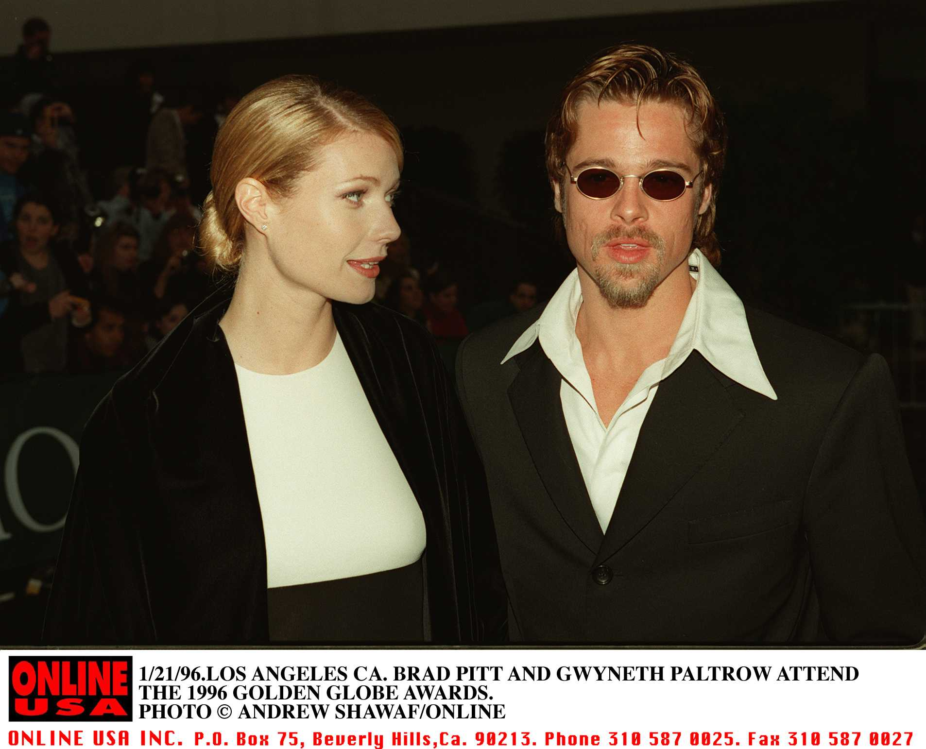 Image Credits: Getty Images / Hulton Archive / Andrew Shawaf / Online USA |  Brad Pitt and Gwyneth Paltrow.
