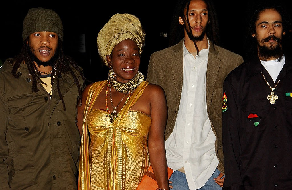Image Credits: Getty Images | Stephen Marley, Rita Marley, Julian Marley and Damian Marley