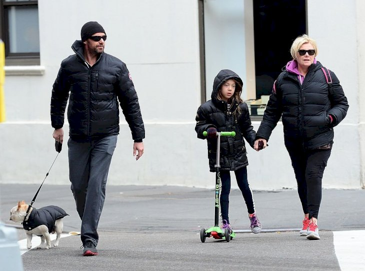 Image Credit: Getty Images / Deborra-lee Furness and Hugh Jackman with their daughter, Ava.