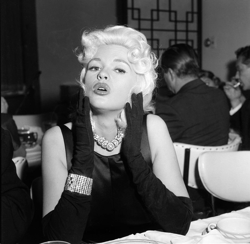Image Credit: Getty Images / JANUARY 4, 1957: Actress Jayne Mansfield poses during a Liberace party in Los Angeles,California.
