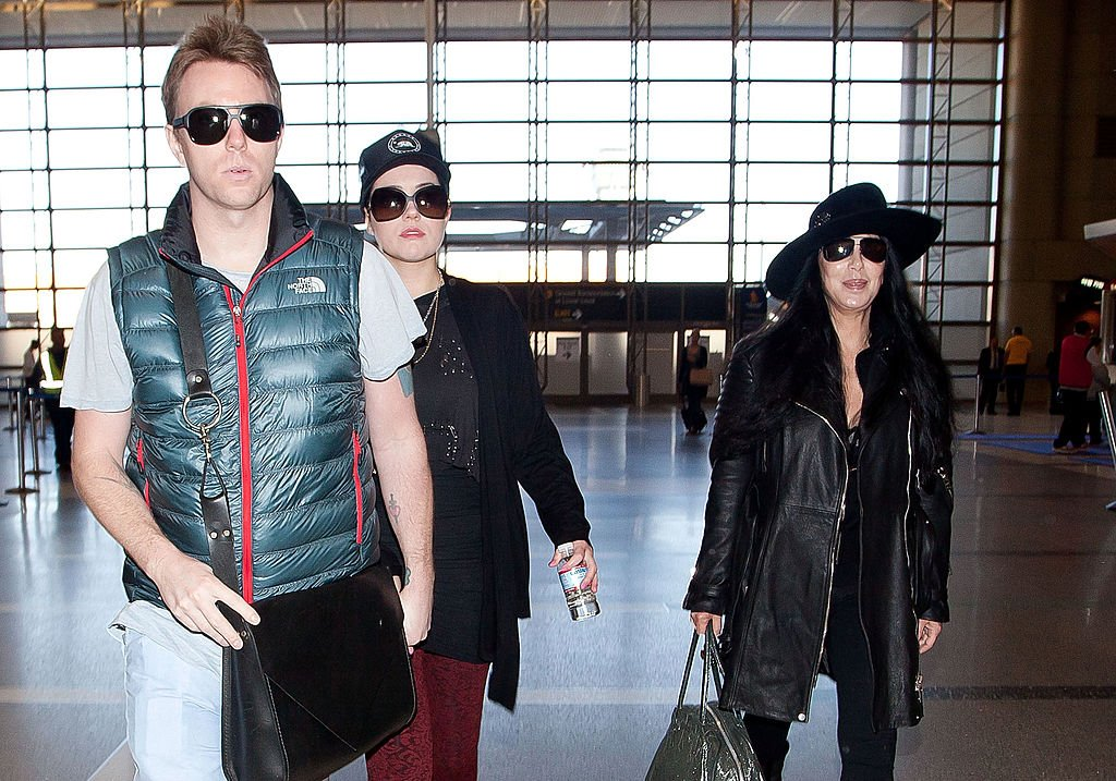 Image Source: Getty Images/GVK/Bauer-Griffin/DECEMBER 10: Cher and her son Elijah Blue Allman is seen at LAX