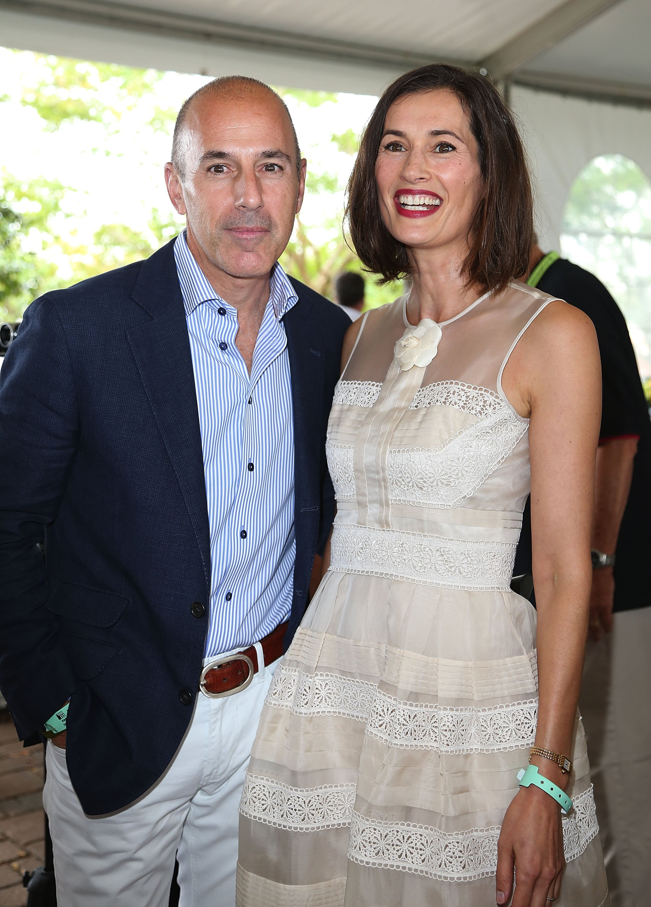 Image Credits: Getty Images | Matt Lauer with ex-wife Annett Roque