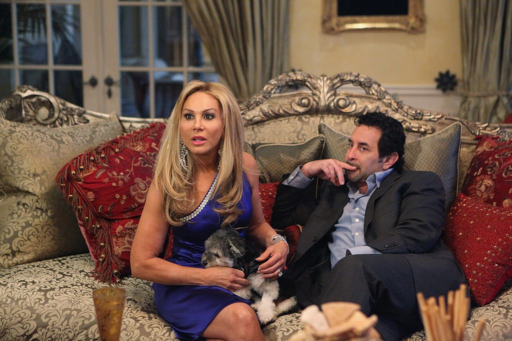 Image Credit: Getty Images / The Real Housewives of Beverly Hills - Season 2 cast members Adrienne Maloof, Paul Nassif.