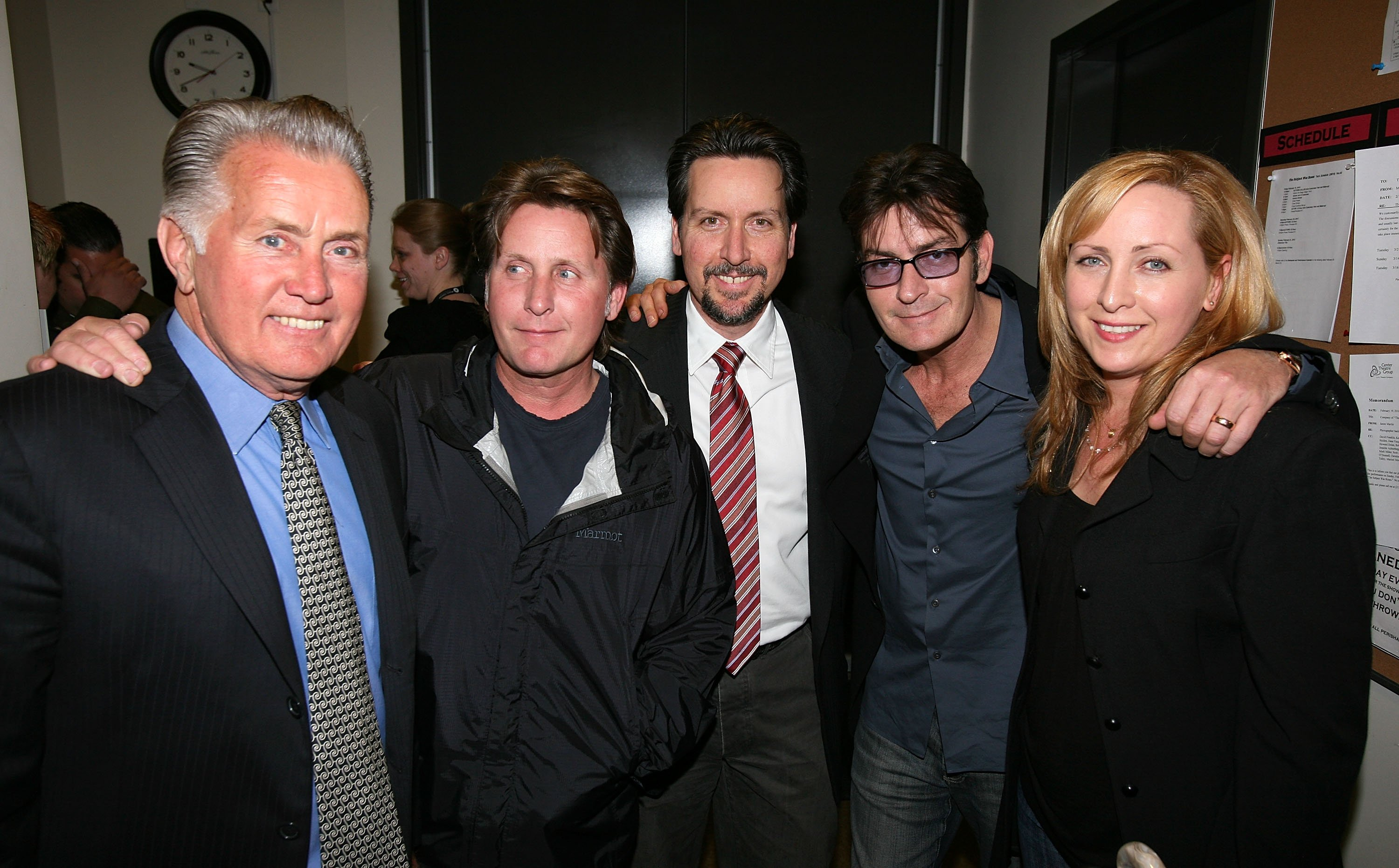 Martin Sheen with all his children (Estevez & Charlie Sheen inc.) Image Source: Getty Images
