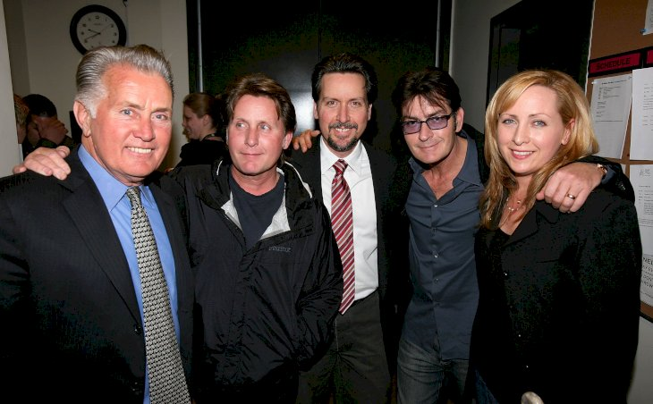Image Credit: Getty Images / Martin Sheen and all four of his children at an event.
