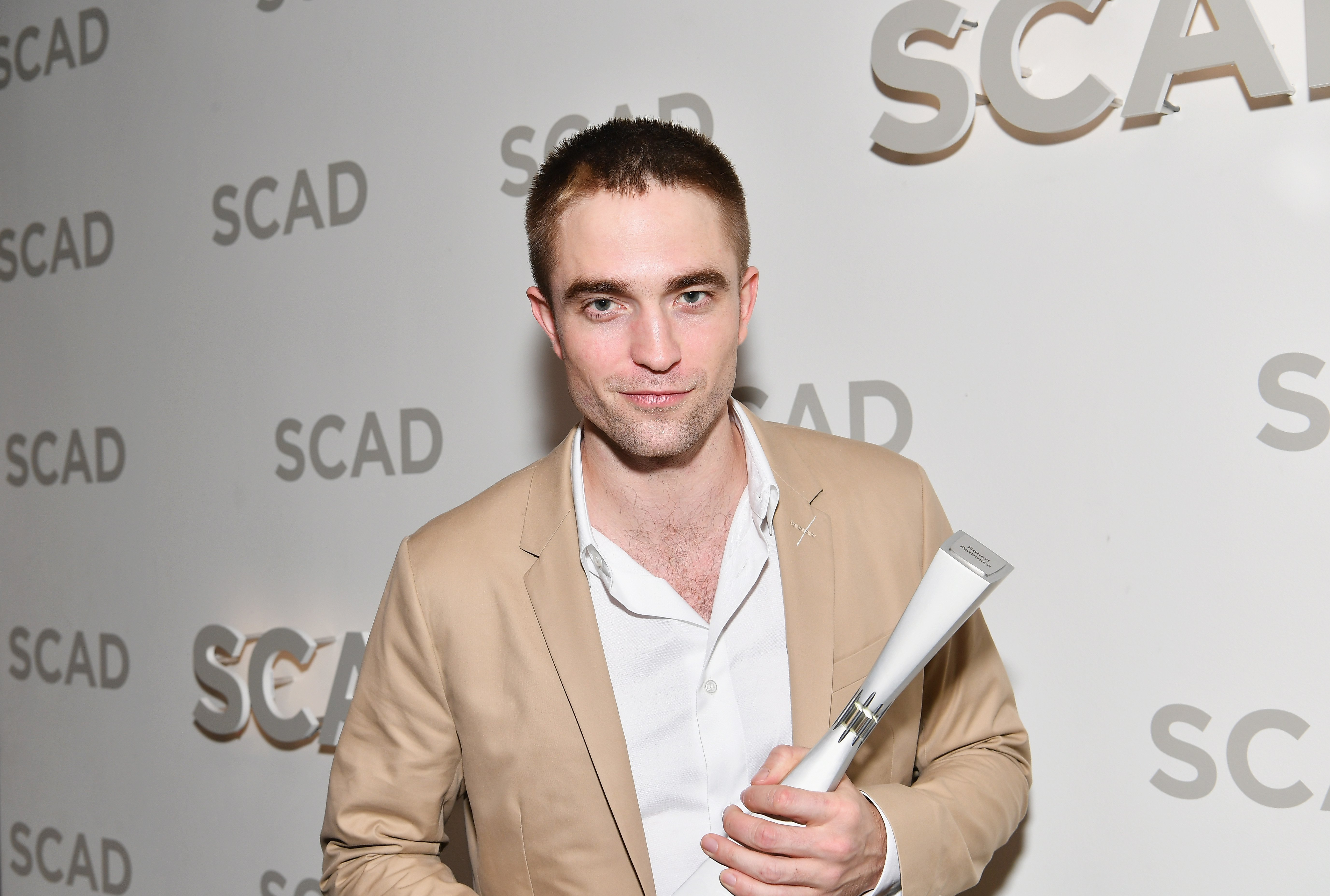 Image Credits: Getty Images / Dia Dipasupil | Actor Robert Pattinson with Maverick Award backstage at Trustees Theater during 20th Anniversary SCAD Savannah Film Festival on November 3, 2017 in Savannah, Georgia.