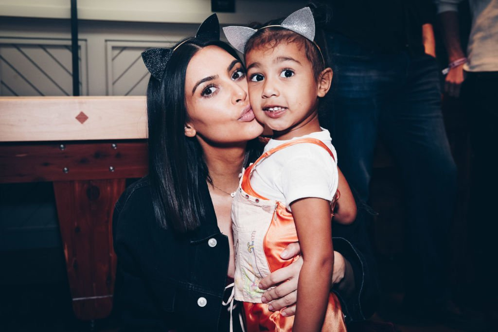 Image Credit: Getty Images / Kim Kardashian and daughter, North West on March 31, 2017 in Inglewood, California.