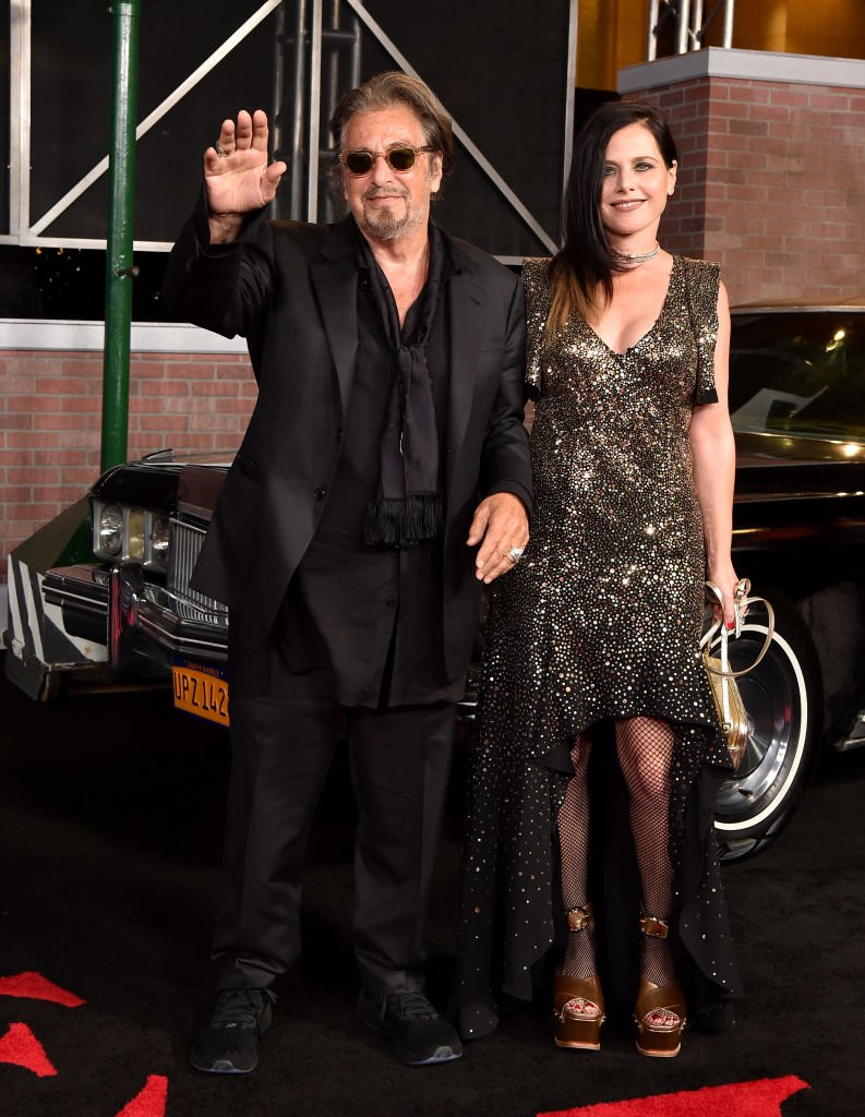"Image Credit: Getty Images/FilmMagic/Axelle/Bauer-Griffin | Al Pacino and Meital Dohan attend the Premiere Of Netflix's ""The Irishman"""