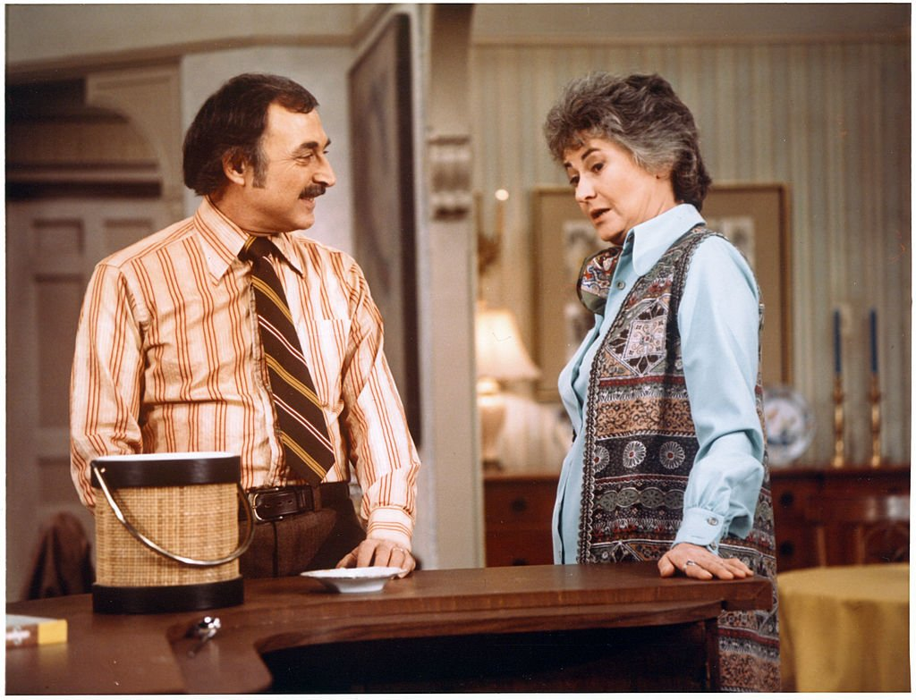 "Image Credits: Getty Images / CBS | ""Maude"" featuring (at left) Bill Macy (as Walter Findlay) and Beatrice Arthur (as Maude Findlay). 1977."