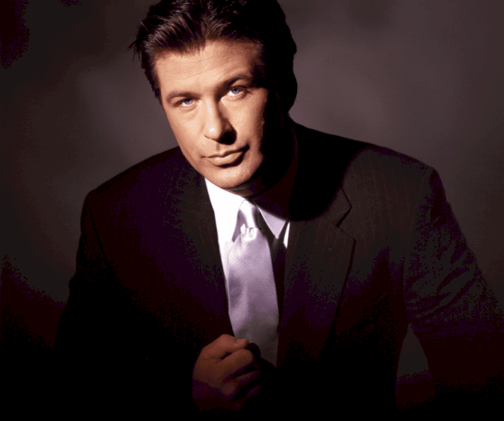 Image Source: Getty Images / Alec Baldwin in front of the camera.