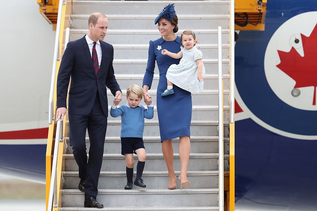 Image Credit: Getty Images / The Cambridge family arrive at the Victoria Airport on September 24, 2016 in Victoria, Canada.