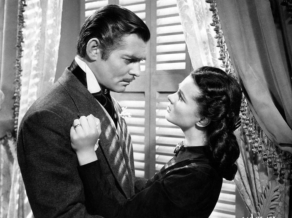 Image Credit: Getty Images / Actor Clark Gable, as Rhett Butler, and Vivien Leigh, as Scarlett O'Hara, from the movie Gone with the Wind, 1939.