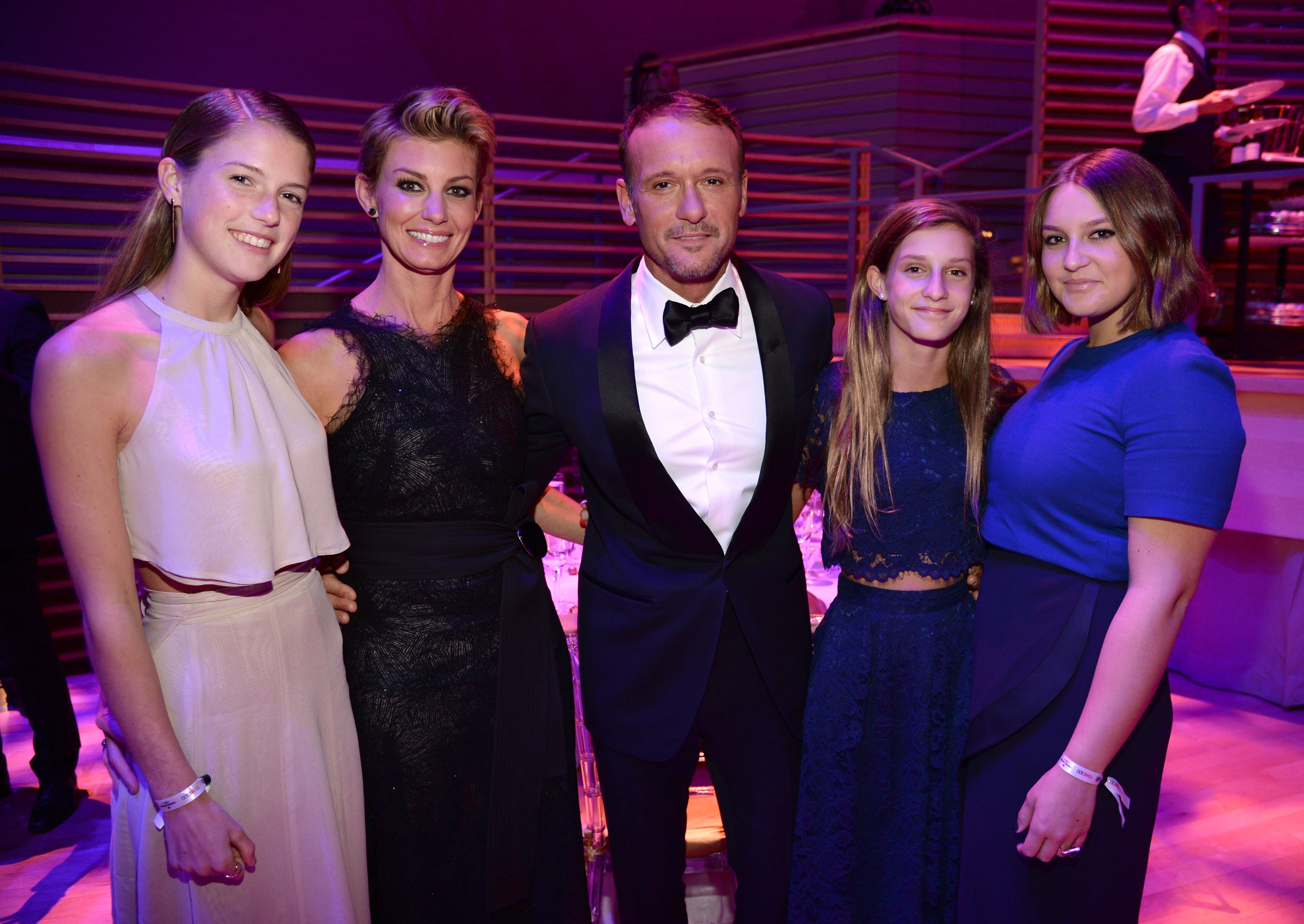 Image Credits: Getty Images / Kevin Mazur | Gracie McGraw, Faith Hill, Tim McGraw, Audrey McGraw and Maggie McGraw attend TIME 100 Gala, TIME's 100 Most Influential People In The World at Jazz at Lincoln Center on April 21, 2015 in New York City.