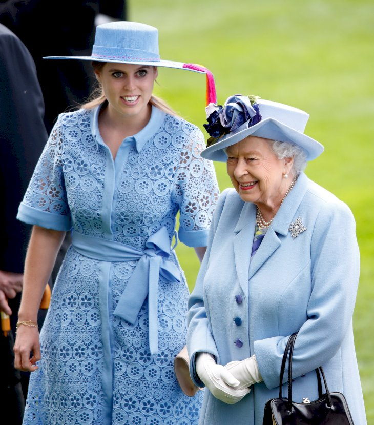 Image Credit: Getty Images / Princess Beatrice at an event with her grandmother, Queen Elizabeth II.