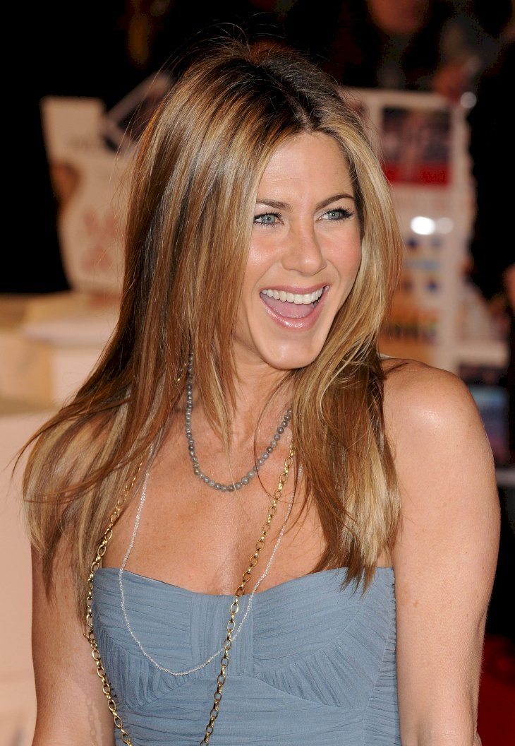 "Image Credit: Getty Images/WireImage/Eamonn McCormack | Jennifer Aniston attends the UK premiere of ""Marley & Me"""